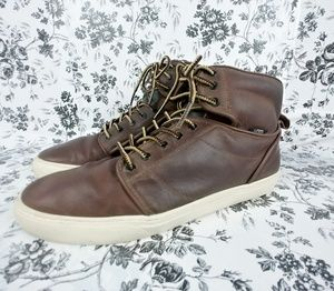 Vans Alcon brown leather high top work boot